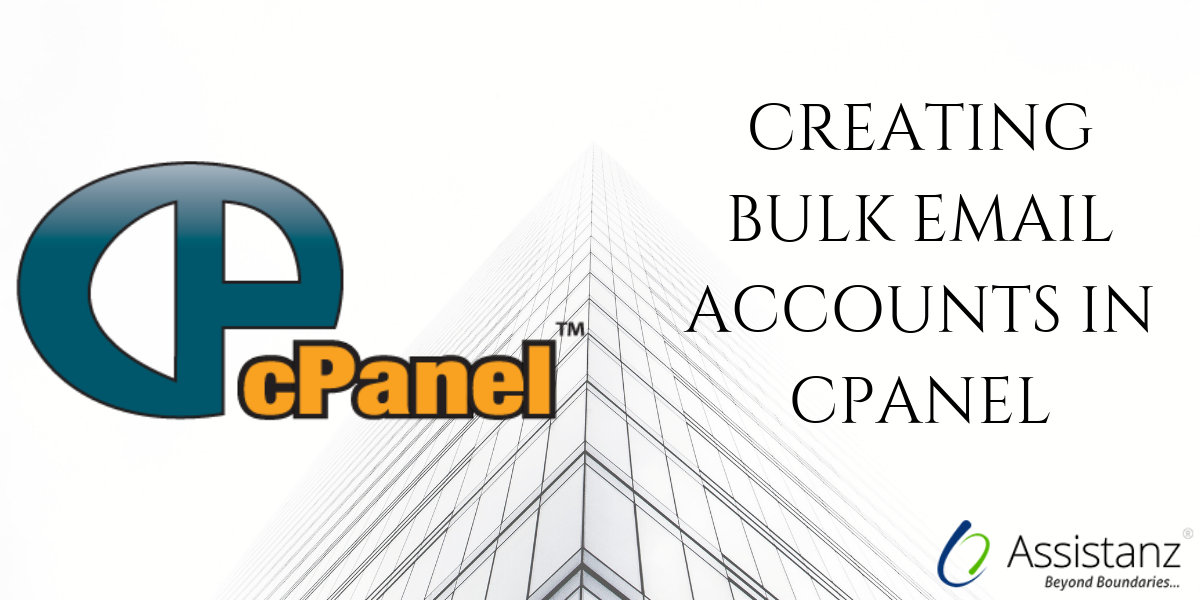 Creating bulk email accounts in cPanel