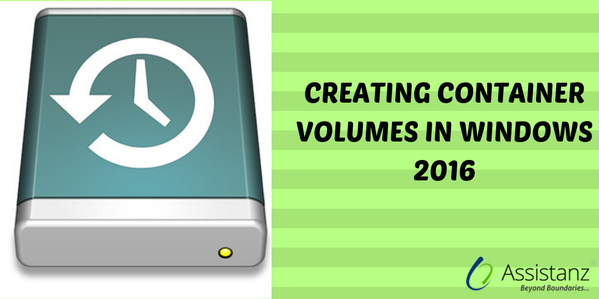 Creating container volumes in windows 2016