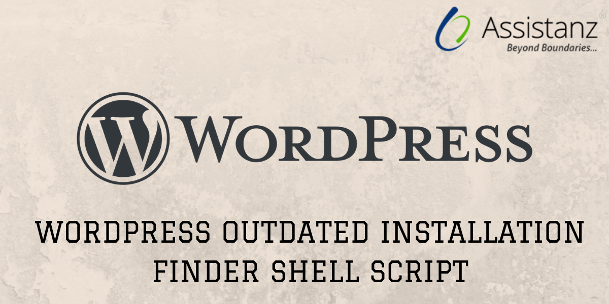 WordPress Outdated installation finder shell script