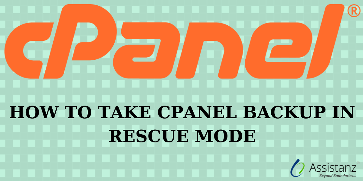 How to take Cpanel Backup in rescue mode