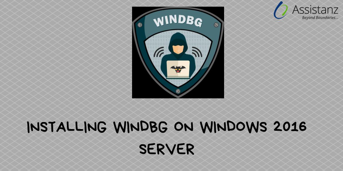 Installing windbg on Windows 2016 Server