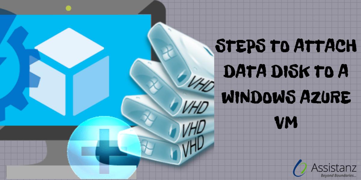 Steps to attach a data disk to a Windows Azure VM