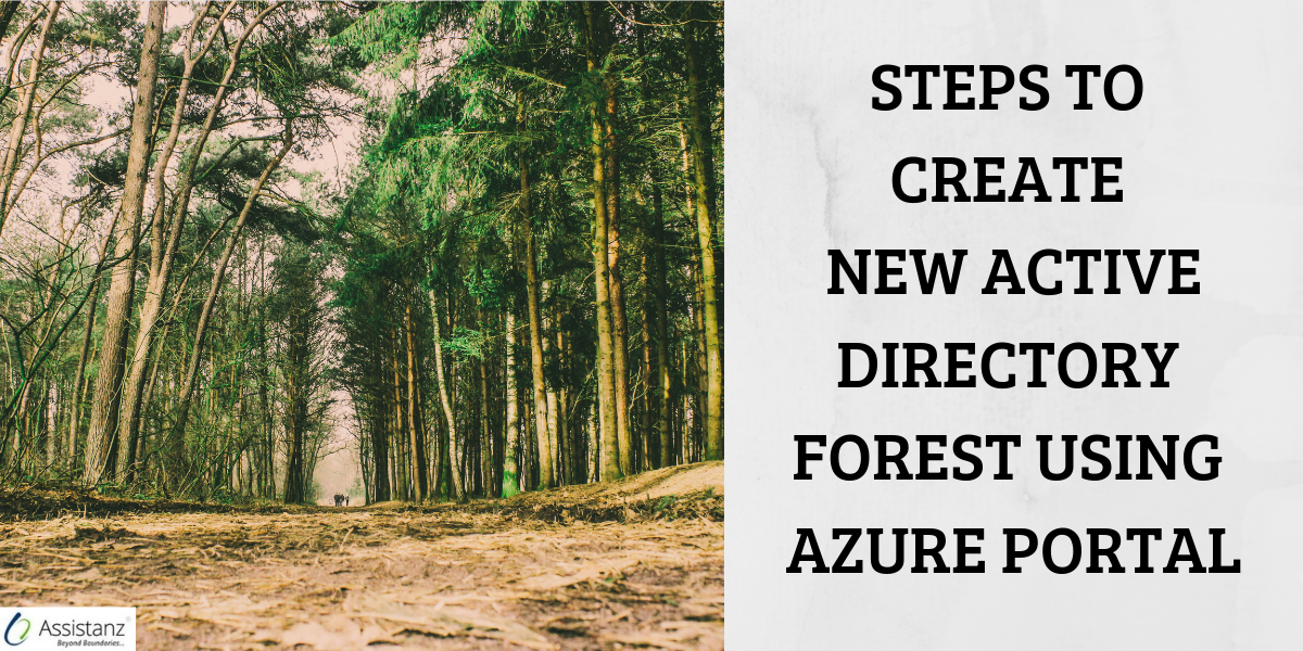Steps to create New Active Directory forest using Azure Portal