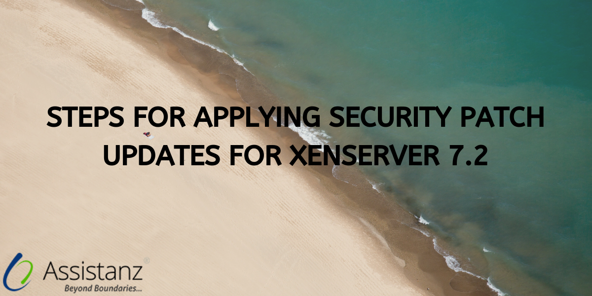 Steps for applying security patch updates for XenServer 7.2
