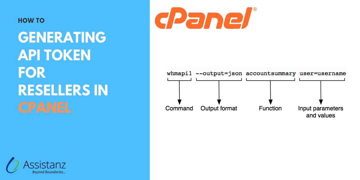 Generating API token for resellers in cpanel