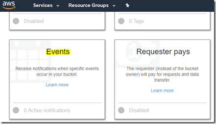 Steps to configure E-mail notification for S3 Bucket