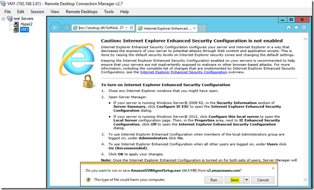 Registering on-premise VM in Systems Manager
