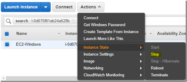 Steps to configure E-mail notification for EC2 instance